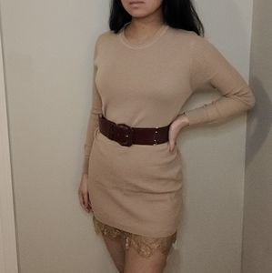 Tan/Cream Sweater Dress